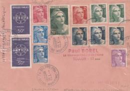 AFFRANCHISSEMENT PHILATELIQUE EUROPA + GANDON DIEPPE 1992 POUR TOULON     TDA43 - Brieven En Documenten