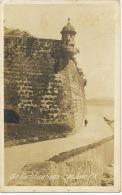 Real Photo San Juan Old Fortifications Sent From San Juan 1920 To Habana Cuba - Puerto Rico