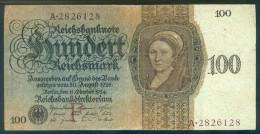 Deutschland, Germany - 100 Mark, Reichsbanknote, Ro. 171 A ,  ( Serie F/A  ) 1924 ! - 1933-1945: Drittes Reich