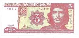 Kuba 3 Pesos 2004 Che Guevara UNC - Cuba