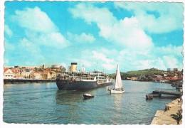 CUR-49   WILLEMSTAD : Pontoon Bridge - Open - Curaçao