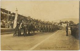 Real Photo San Salvador  Escuela Militar 1928 Escritura Muy Linda A Cuba - El Salvador