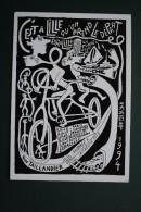 CPM ILLUSTRATION YVON TAILLANDIER FIGURATION LIBRE GALERIE DE LA BUTTE OCTEVILLE LILLE PARIS LONDRES BRUXELLES AMSTERDAM - Illustrators & Photographers