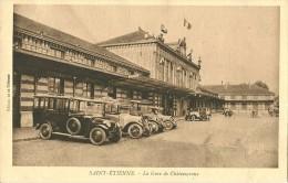 SAINT ETIENNE LOIRE LA GARE DE CHATEAUCREUX  AUTOMOBILES AUTO EDIT.  DE LA TRIBUNE  NON ECRITE - Saint Etienne