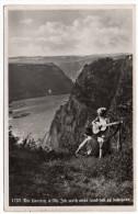 Allemagne--Die LORELEY A Rh--1939-(animée,guitare)-cpsm 14 X 9 N° 1733  éd Fritz Wagner--beau Cachet St GOAR Au Verso - Loreley