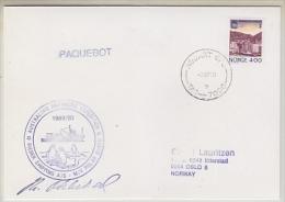 Norway 1990 Cover Australian Antarctic Expedition M/V Polar Queen (20086) - Australisch Antarctisch Territorium (AAT)