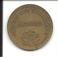 MONTE CARLO -- MONACO  ---  Jeton De Jeux  -=-  CERCLE DES ETRANGERS  S.B.M. 10 Francs  ND (1922-24 ) - Casino