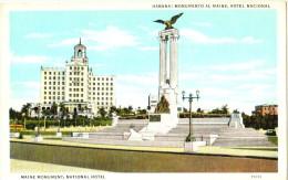 Habana - Monumento Al Maine, Hotel Nacional - Cuba