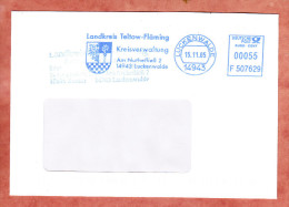 Brief, Francotyp-Postalia F507629, Wappen, Landkreis Teltow-Flaeming, 55 C, Luckenwalde 2005 (75392) - Covers & Documents