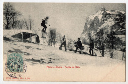 PLAISIRS ALPINS - Partie De Skis ( Saut à Ski ) - 1905 - Hautes-Alpes ? Ed. Lambert à Gap - Sports D'hiver
