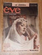 Edwige Feuillere/rudolf Valentino - Revue Eve - 10 Octobre 1937 - 1900 - 1949