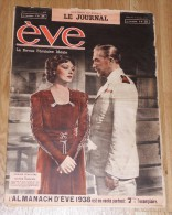 Edwige Feuillere/victor Francen/rudolf Valentino - Revue Eve - 17 Octobre1937 - 1900 - 1949