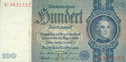 Deutschland, Germany - 100 Reichsmark, Ro. 176 A , ( Serie A/G ) 1936 - 1948 ! - 1933-1945: Drittes Reich