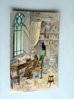 Carte Postale Ancienne : SAINT-GALMIER , Source Badoit , Dans Le Sein De La Nuit Magique..., Chat Noir - France