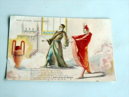 Carte Postale Ancienne : SAINT-GALMIER , Source Badoit , Et Mephisto Lui Dit De Sa Voix Basse.... - France