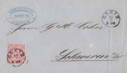 NDP Brief EF Minr.16 Nachv. Stempel Greiz 16.3.1870 - Norddeutscher Postbezirk