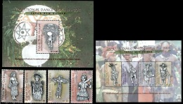 (144-146) Papua NG / Papouasie  2011  Dances / Culture / Tänze  ** / Mnh  Michel 1739-46 + BL 147 - Papua-Neuguinea
