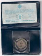 Yugoslavia 5 Dinara 1990.UNC Chess Olympiad Novi Sad Commemorative Coin KM#145 PROOF - Jugoslawien