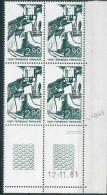 France -1981 - Coin Daté 12/11/81 -2 F.90 Vert-noir - Crest (Drôme) -Y&T N°2163 ** Neuf Luxe 1er Choix - 1980-1989