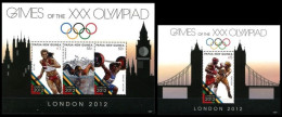 (159-160) Papua NG / Papouasie  2012 / Sports / London Olympics  ** / Mnh  Michel 1824-26 + BL 155 - Papua New Guinea
