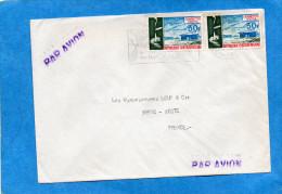 MARCOPHILIE- LettreRCA  Cad- Flamme Cacao1974-pour Françe-  Stamp N°217 Cigarette Centra - Central African Republic