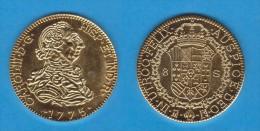 CARLOS III  8 ESCUDOS 1.775  MADRID  PJ PLATA  SC/UNC  Réplica   T-DL-11.238 - [ 1] …-1931 : Royaume