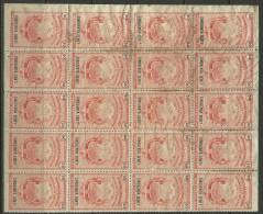 COSTA RICA Steuermarke Revenue Timbre Proporcional 50 C. Bogenteil Von 20 MNH - Costa Rica