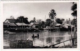 Village Of River Palms Fishing Boat, Photo Card To 1930 - China