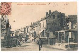 MOURMELON Le PETIT . 51 . Grande Rue . Passage A Niveau . Animée .1906 - Autres Communes