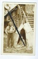 Carte Photo - At Minocqua Wis - Big Georgie And His Wife  - Indien, Indienne - Etats-Unis