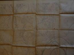 carte etat major Verdun canevas tir avec tranch�es  batterie tirage  21 octobre 1917 samogneux brabant creplon neuville