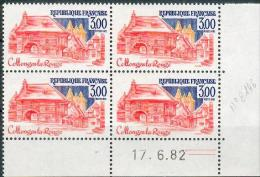 France -1982 - Coin Daté 17/6/82 - 3F. Collonges-la-Rouge -Y&T N°2196 ** Neuf Luxe 1er Choix - 1980-1989