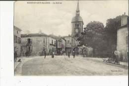 Rosières-en-Salines  54    Le Beffroi Et La Rue Animée - France