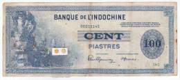 Banque De L´INDOCHINE- 100 Piastres - (KM 83 - P 78) / Type 1941 - Indochine