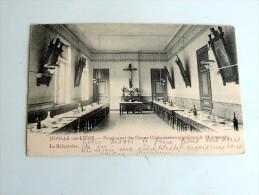 Carte Postale Ancienne : JUPILLE LEZ LIEGE : Pensionnat Des Dames Chanoinesses Régulières De St Augustin, Le Réfectoire, - Juprelle