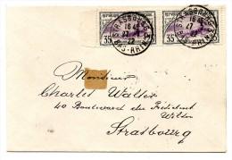 Lettre Locale De STRASBOURG Le 27.07.1922 - France