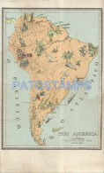 5192 ARGENTINA MAP MAPA SUD AMERICA POSTAL POSTCARD - Argentine