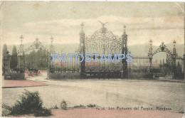 5202 ARGENTINA MENDOZA LOS PORTONES DEL PARQUE PARK YEAR 1910 BREAK POSTAL POSTCARD - Argentinien