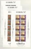 1997 USED Gibraltar, Europa Sheets Gestempeld - Gibraltar