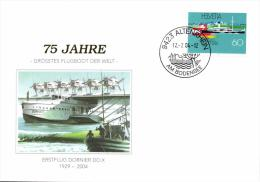 Switzerland 1993 Philex 1501 On Commemoration Cover 12-Jul-2004, 75 Year Largest Flying Boat Dornier DO X - Boten