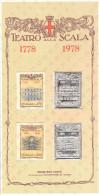 BICENTENARIO TEATRO ALLA SCALA MILANO 1778/1978 - RIPRODUZIONE FRANCOBOLLI SU LAMINA D´ARGENTO + ANNULLO FDC 03-08-1978 - Teatro