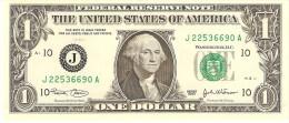 "U.S.A. 1 DOLLAR 2003 PICK 515 LETTER ""J"" UNC"