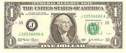 "U.S.A. 1 DOLLAR 2003 PICK 515 LETTER ""J"" UNC - Federal Reserve Notes (1928-...)"