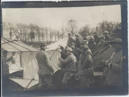 Photo Guerre 1914-18 - Cerf-volant Du Capitaine Dorand Avant Son Envol - à Droite Un Autotreuil De Cocquot Latil - War, Military