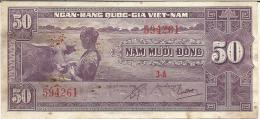 VIET NAM SOUTH 50 DONG 1956 PICK 7a XF - Vietnam