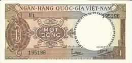 VIET NAM SOUTH 1 DONG 1964 PICK 15a UNC - Vietnam