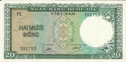 VIET NAM SOUTH 20 DONG 1964 PICK 16a AU/UNC - Vietnam