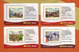 ITALIA 4 Tessere Filateliche 2010: Garibaldi 150° Spedizione Dei Mille. Verso L'Unità D'Italia. Serie Completa. - 6. 1946-.. Republic