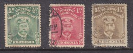 Southern Rhodesia: 1913, George V 1/2d, 1d, 1 1/2d= Used - Southern Rhodesia (...-1964)