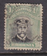 Southern Rhodesia: 1913 - 22, George V  1/= Black +pale Blue-green Perf 14, Die III Used - Southern Rhodesia (...-1964)